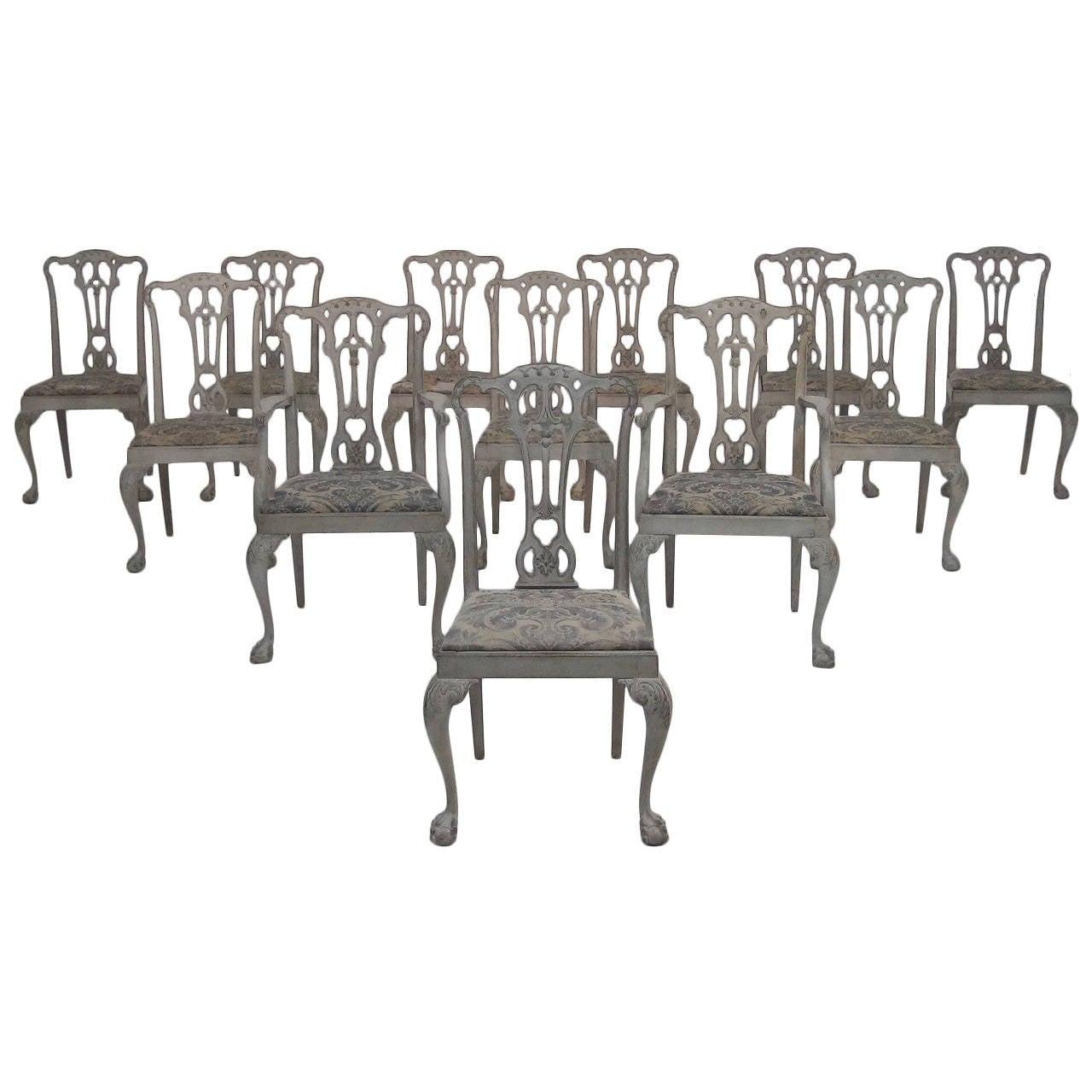 set of twelve 19th century swedish george ii style dining chairs at 1stdibs