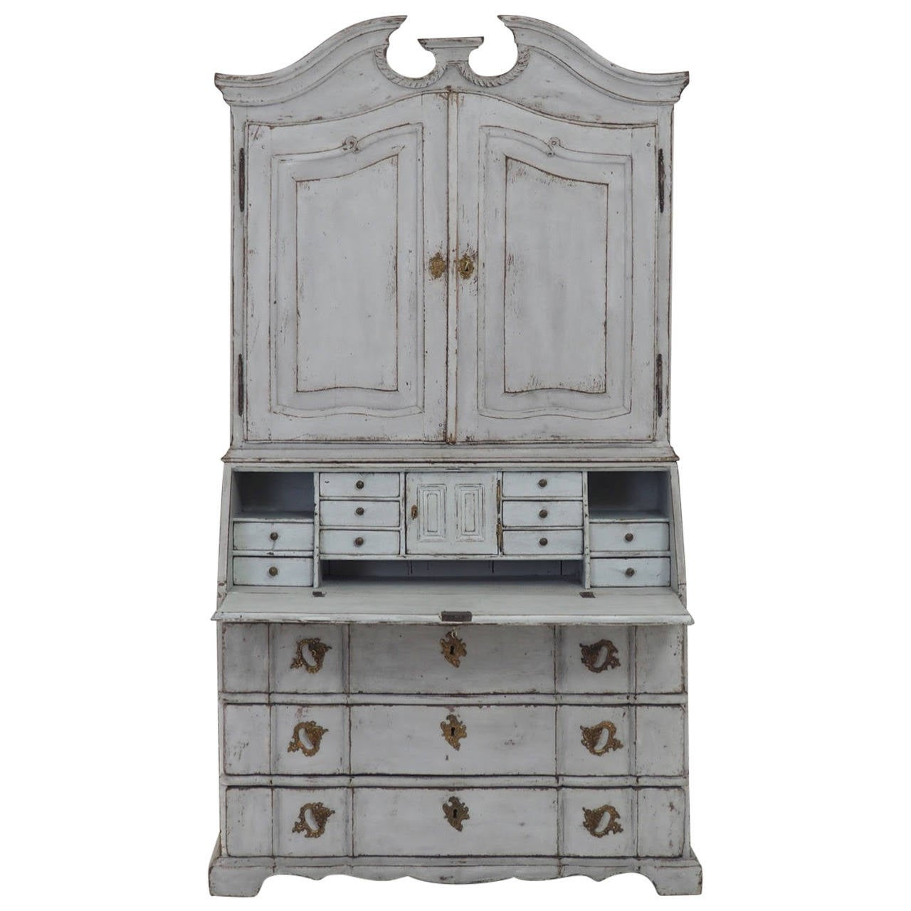 18th century scandinavian baroque period secretary with library at 1stdibs. Black Bedroom Furniture Sets. Home Design Ideas