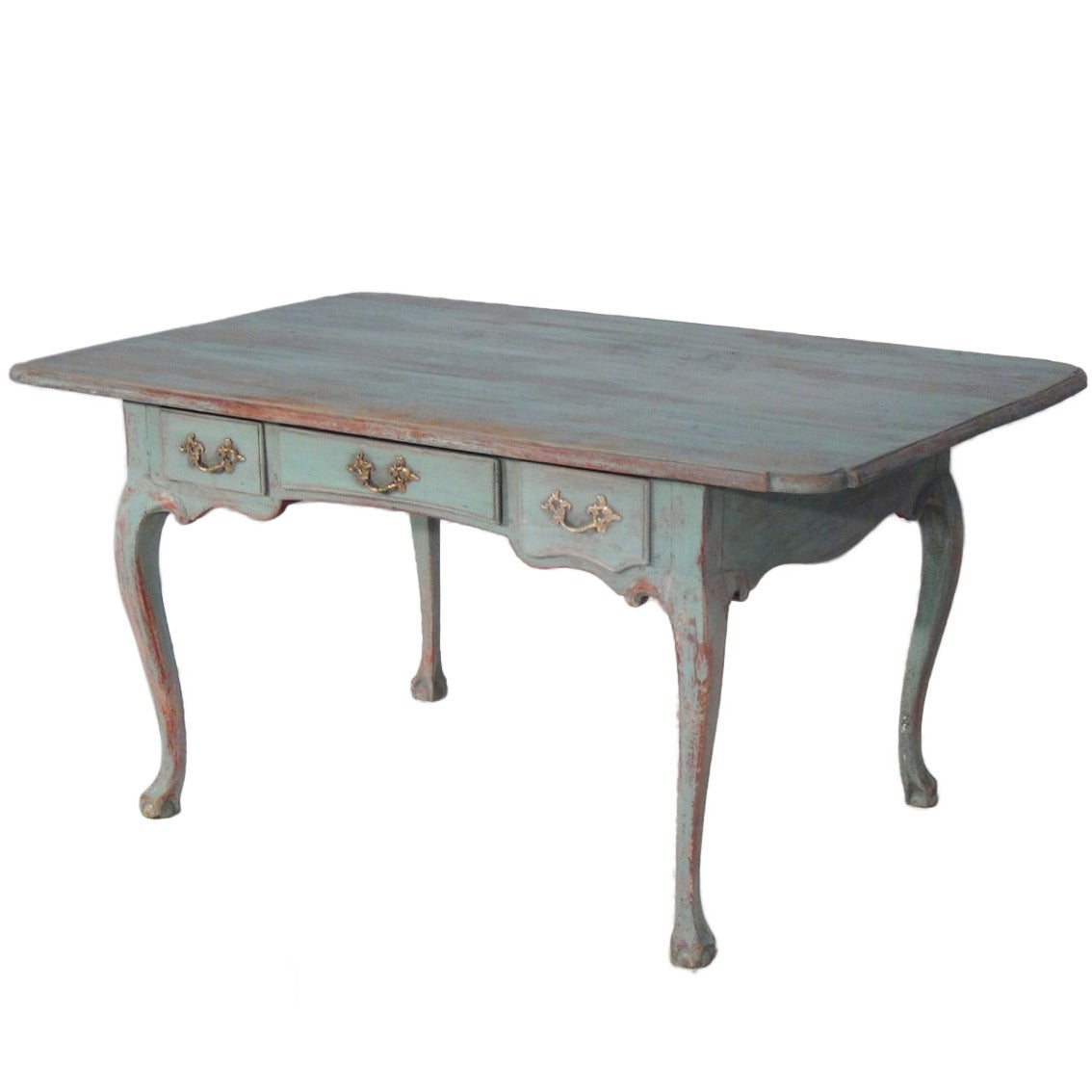 19th Century Swedish Rococo Writing Desk in Original Paint at 1stdibs