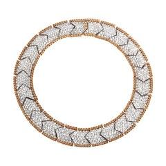 Bergdorf Goodman Vintage One of a Kind Glamorous Pave Crystal Gilt Necklace