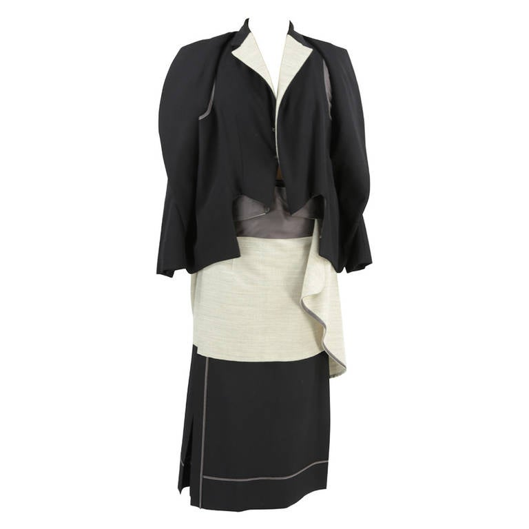 Comme Des Garcons Runway Jacket and Skirt Italian Size S