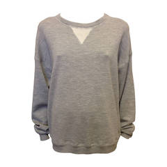 Jason Wu Grey Silk and Cotton Sweatshirt