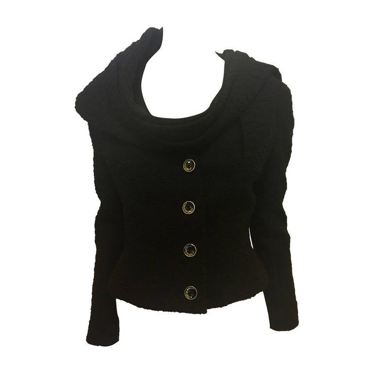 John Galliano Black Jacket with Wrap 1