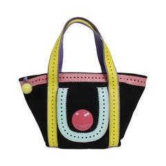 Moschino 1990s Canvas & Leather Pastel Handbag