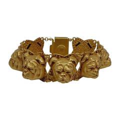 Askew London Bulldog Head Link Bracelet