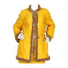 Jean Charles de Castelbajac Quilted Coat Suit
