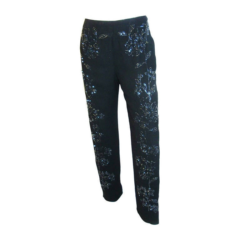 Pierre Balmain  silk beaded evening pants