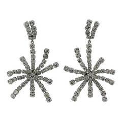 Elegant Pave Starburst Earrings