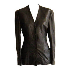 1980s Black Michael Hoban for North Beach Leather Jacket