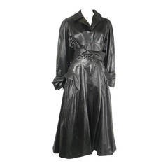 1980s Theirry Mugler Vinyl Runway Trench Coat