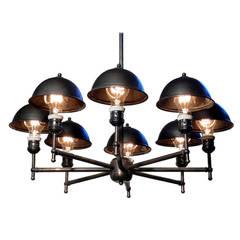 Impressive Eight-Lamp Greist Mini Hooded Chandelier