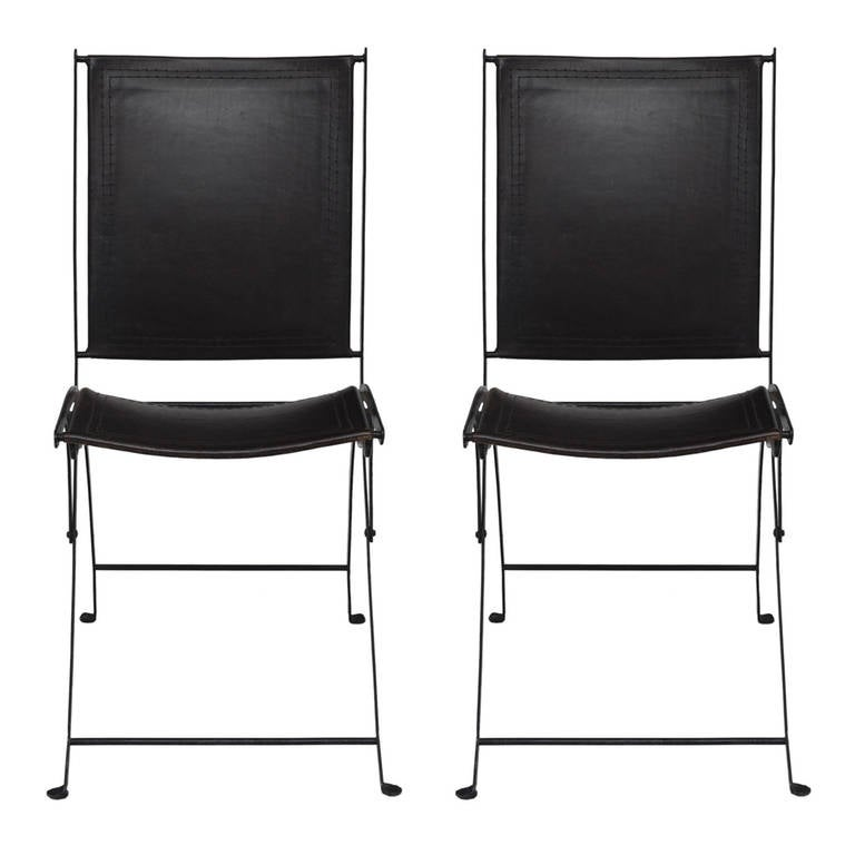 Pair of 19th Century Folding Chairs