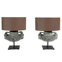 Pair of Lead Lamps