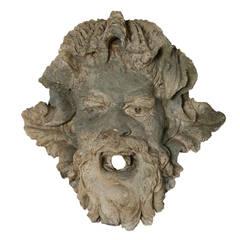 Grotesque Wall Mask from a Wall Fountain, circa 1810