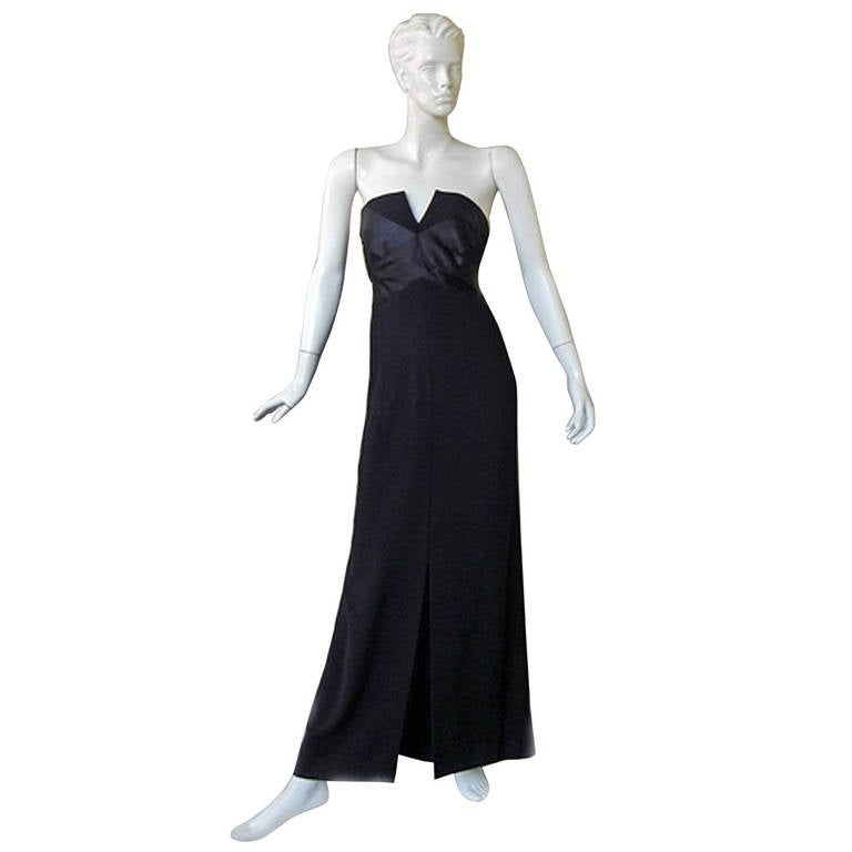 Chanel haute couture strapless evening dress gown at 1stdibs for Chanel haute couture price range