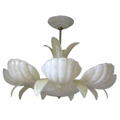 "Barovier and Toso Murano Glass ""Shells"" Chandelier"