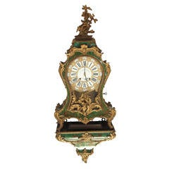 Fine 18th Century French Horn and Gilt Bronze Bracket Clock Stamped Marchand