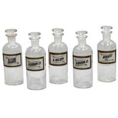 Set of 6 Medium Apothecary Bottles