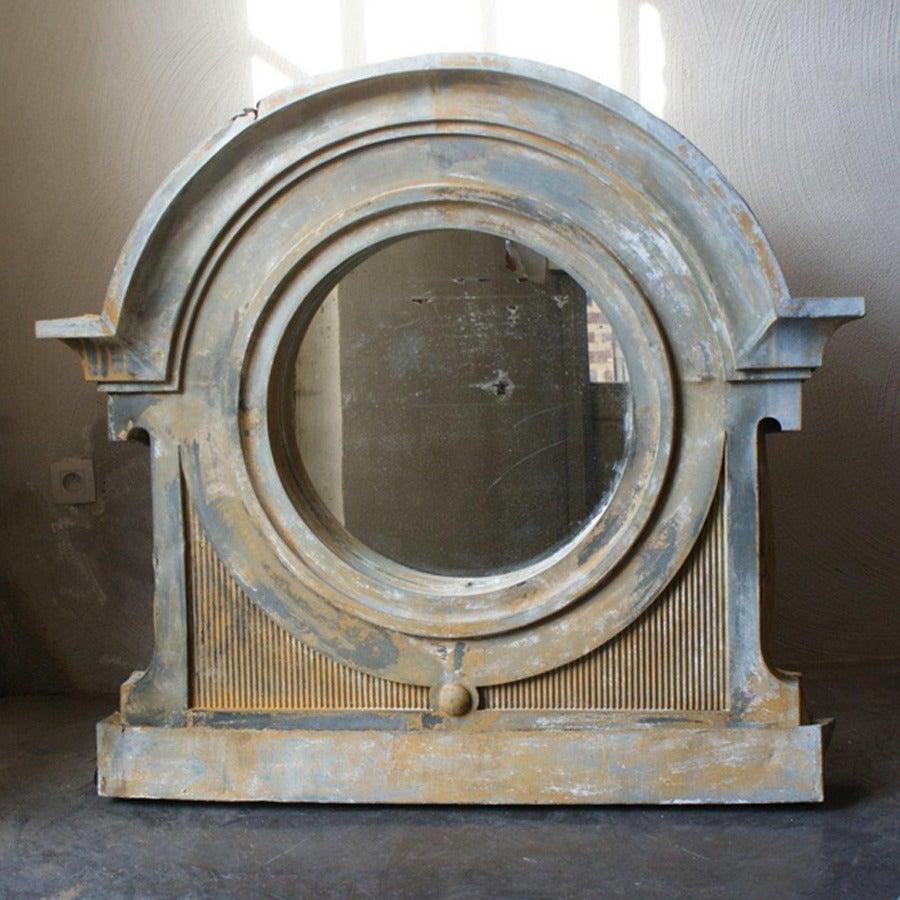 Large Zinc Bull S Eye Dormer Window Mirror From France