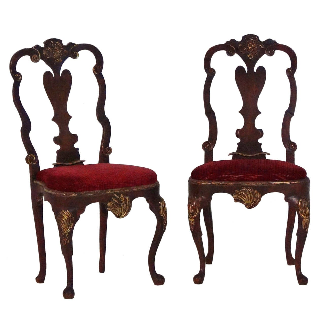 Pair of 18th century french parcel gilt rococo period for French rococo furniture