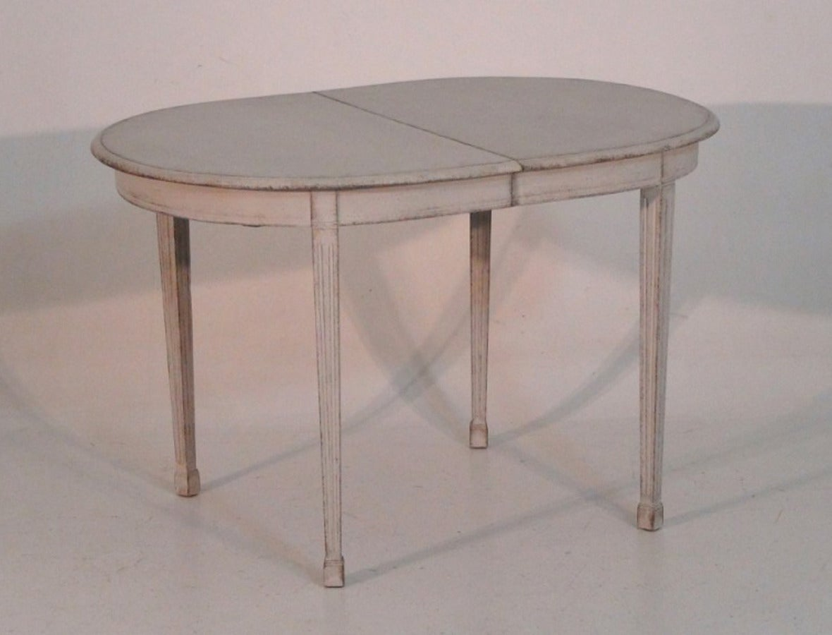 swedish painted dining table in the gustavian style at 1stdibs