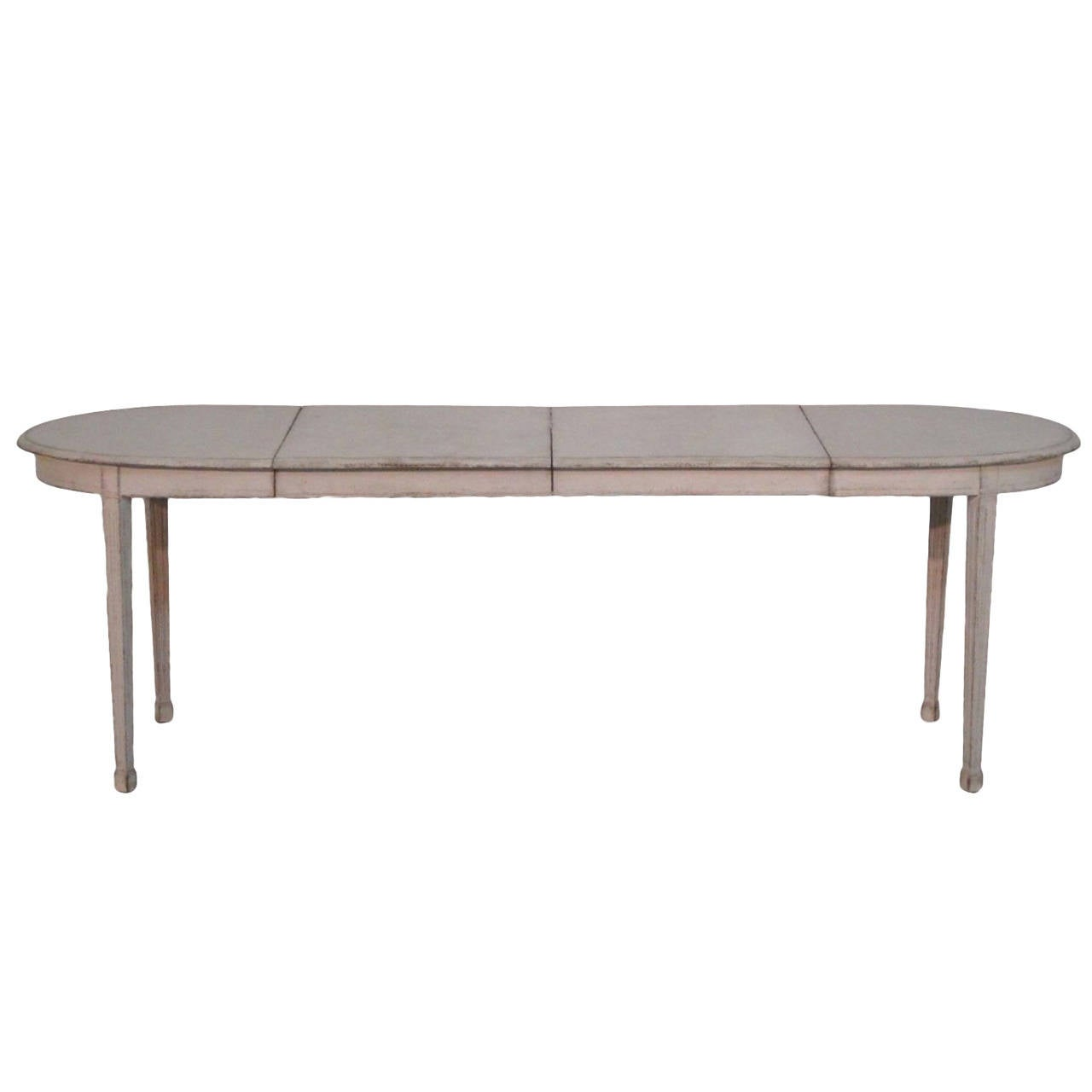 Swedish painted dining table in the gustavian style at 1stdibs for Painted dining table