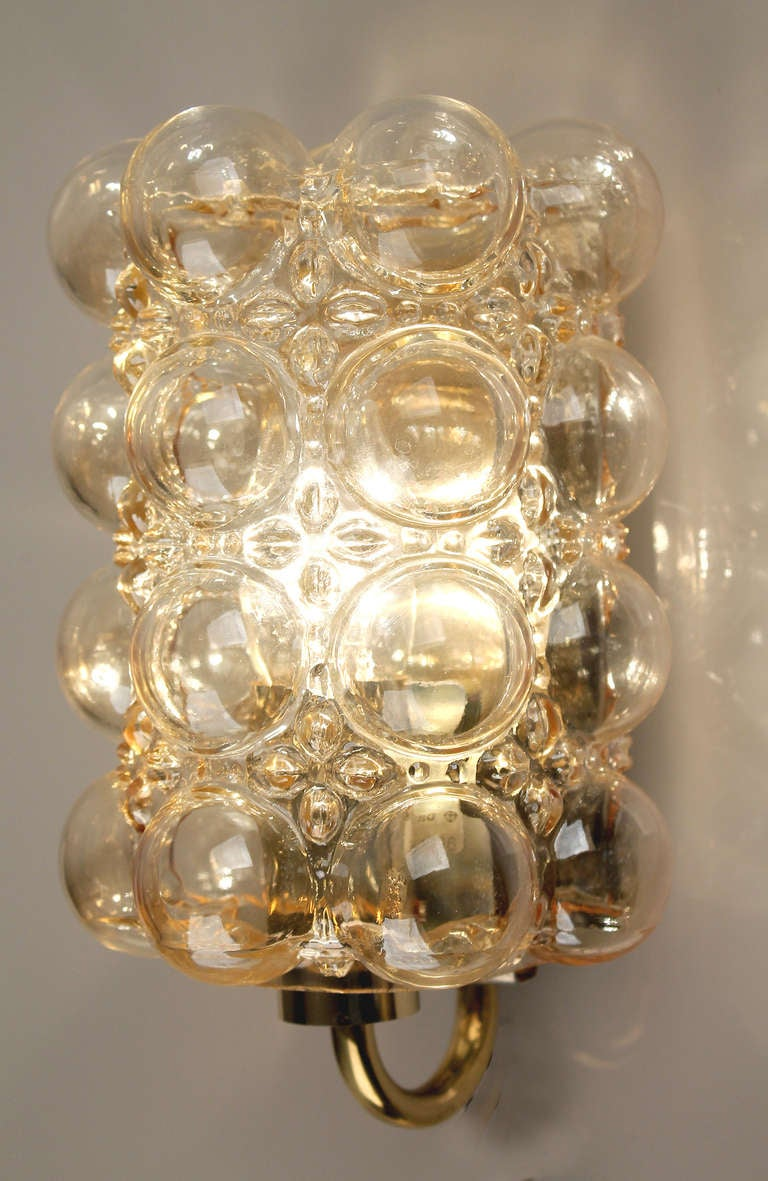 Limburg Helena Tynell Amber Bubble Glass Sconce Wall Light at 1stdibs