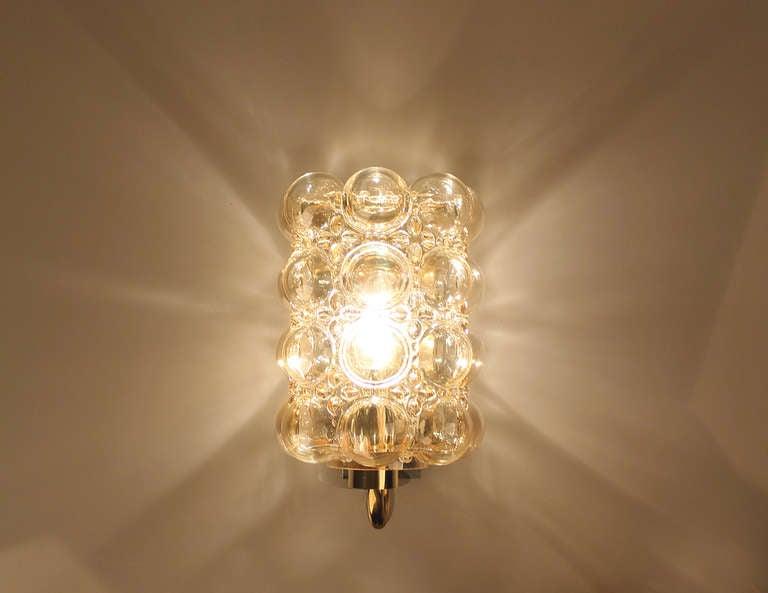 Limburg Helena Tynell Amber Bubble Glass Sconce Wall Light