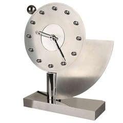 French Avant Garde Art Deco Machine Age Clock, 1930s Modernist Design