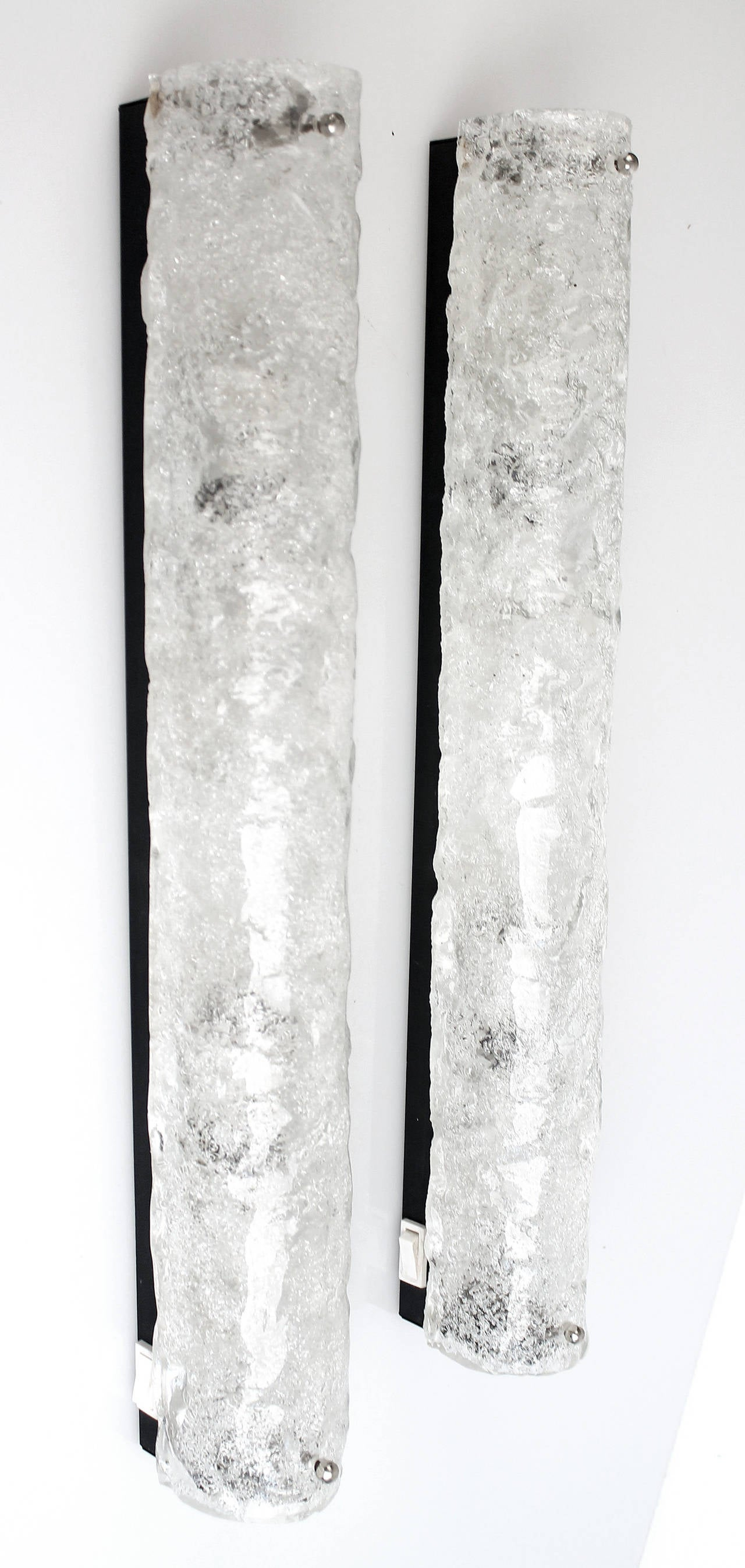 Pair of very large murano glass sconce wall light at 1stdibs for Large glass wall
