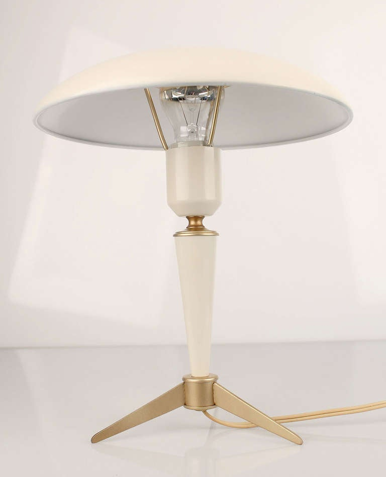 1950s louis kalff philips desk table lamp mid century at 1stdibs. Black Bedroom Furniture Sets. Home Design Ideas