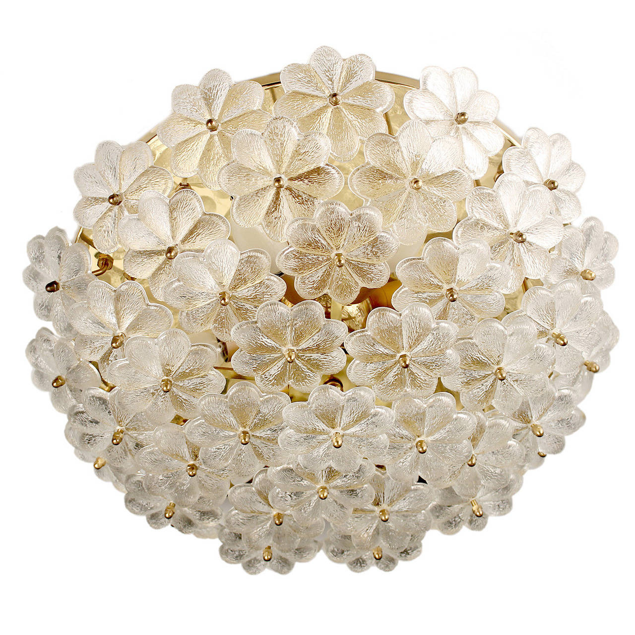 Large murano glass flowers flush mount antique lighting ceiling large murano glass flowers flush mount antique lighting ceiling light brass 1 arubaitofo Gallery