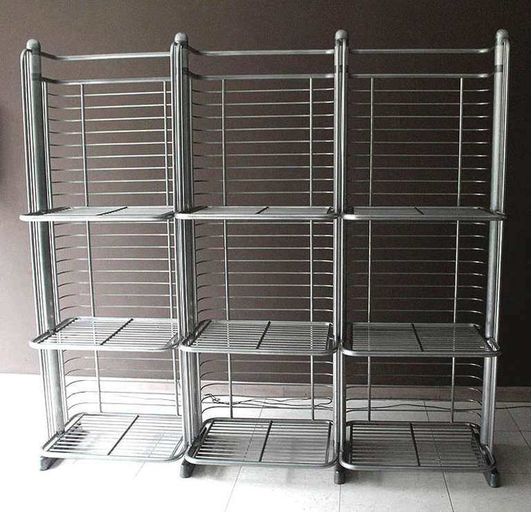 Very Large French MidCentury Art Deco Industrial Bakery Shelf In Good Condition For Sale In Bremen, DE