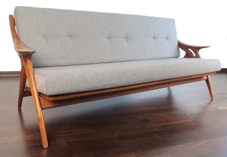 1950s De Ster Gelderland Danish Lounge Chair Sofa Set For Sale 1