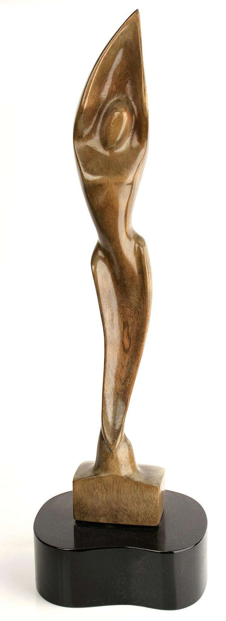 Heifetz Pair Of Wooden Sculptures Of Man And Woman For