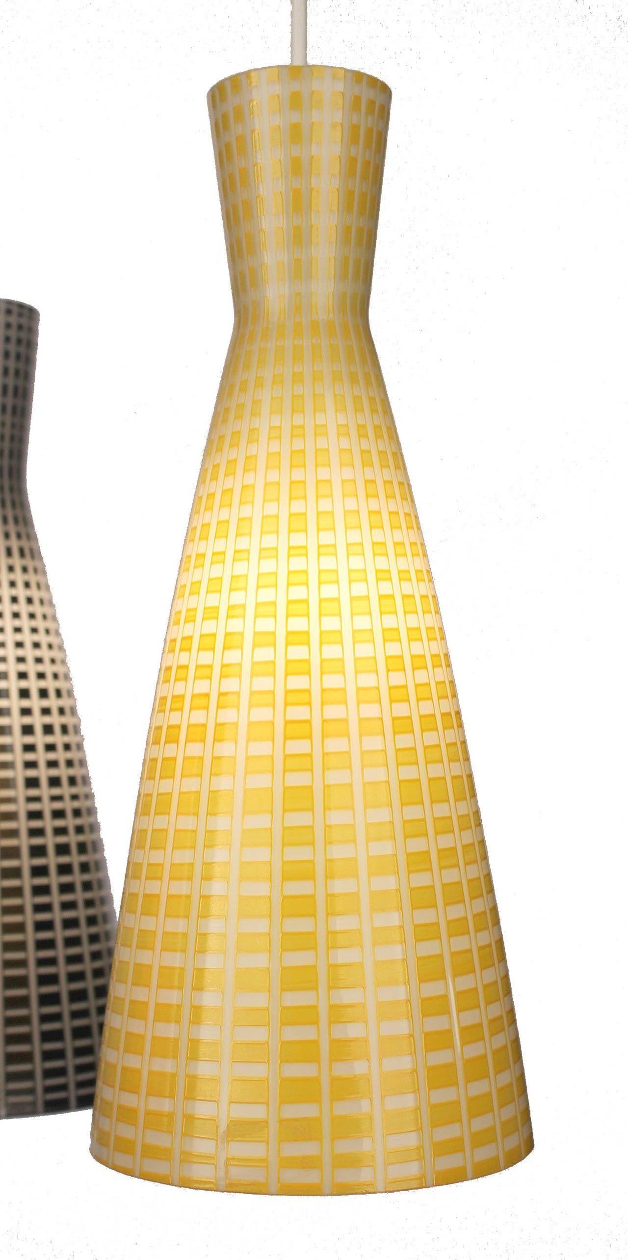 Large Glass & Brass Chandelier,  Modernist Design, Stilnovo Style Pendant Lamp  6