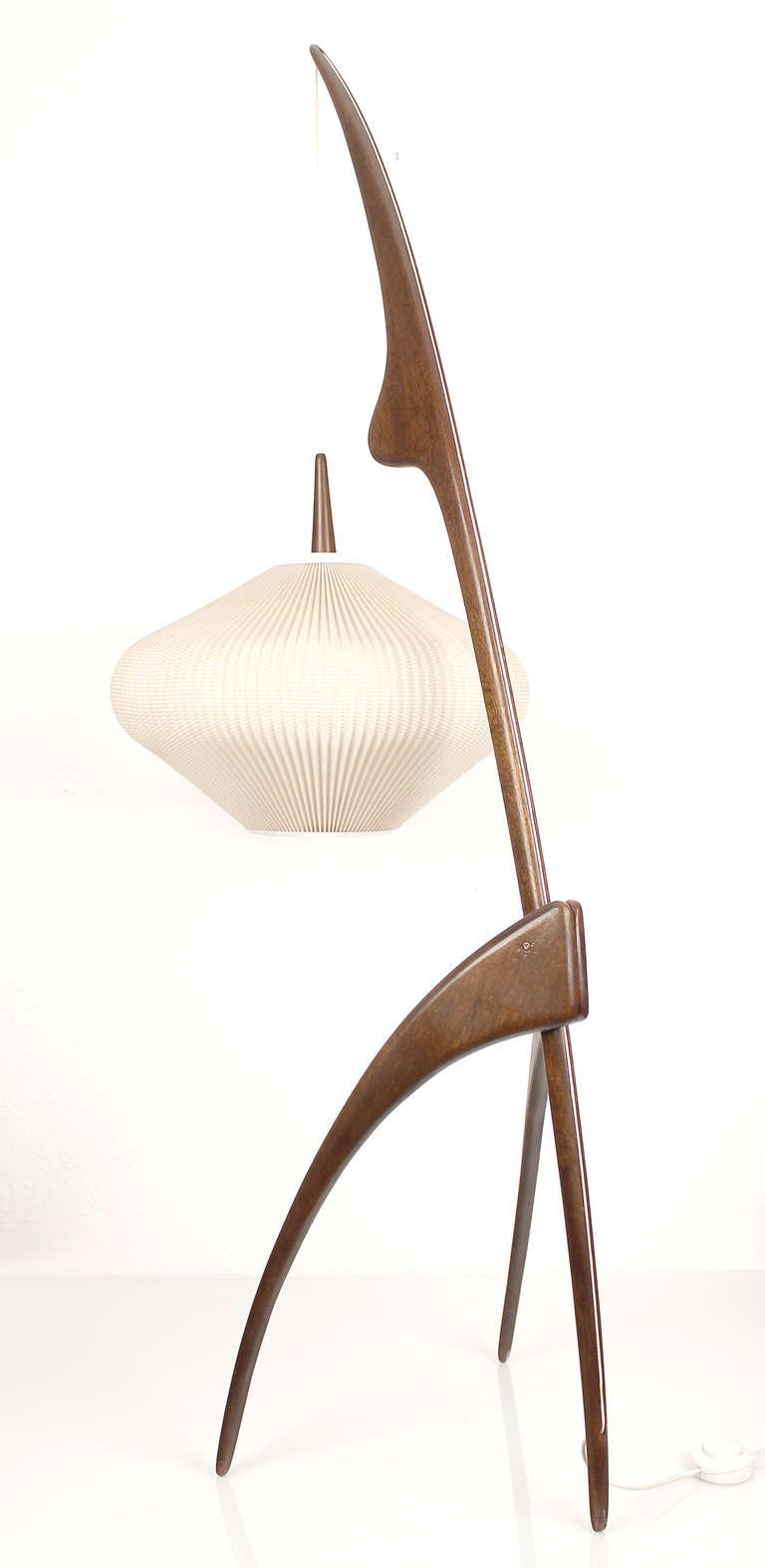 french mid century j rispal praying mantis floor lamp at 1stdibs. Black Bedroom Furniture Sets. Home Design Ideas