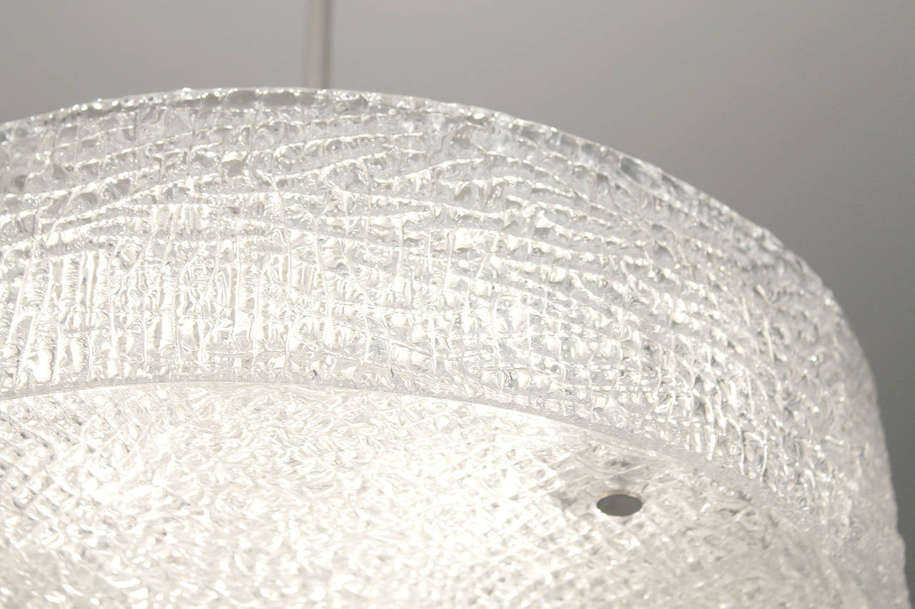 Drum Shaped Murano Glass Chandelier At 1stdibs