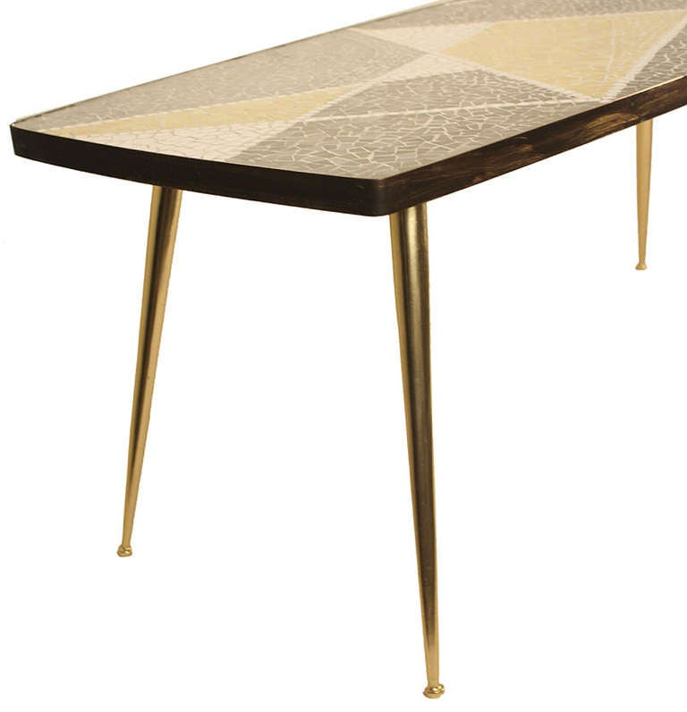Mosaic Coffee / End Table Mid Century At 1stdibs