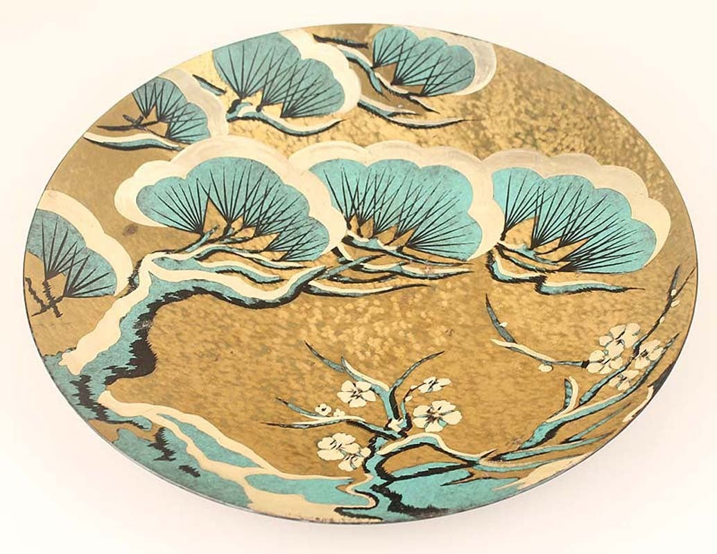 Art Deco Modernist WMF Ikora Japanese Landscape Wall Plate ...