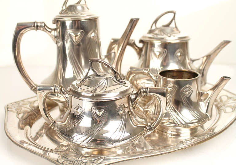 1900 Wmf Art Nouveau Jugendstil Coffee And Tea Service Set For