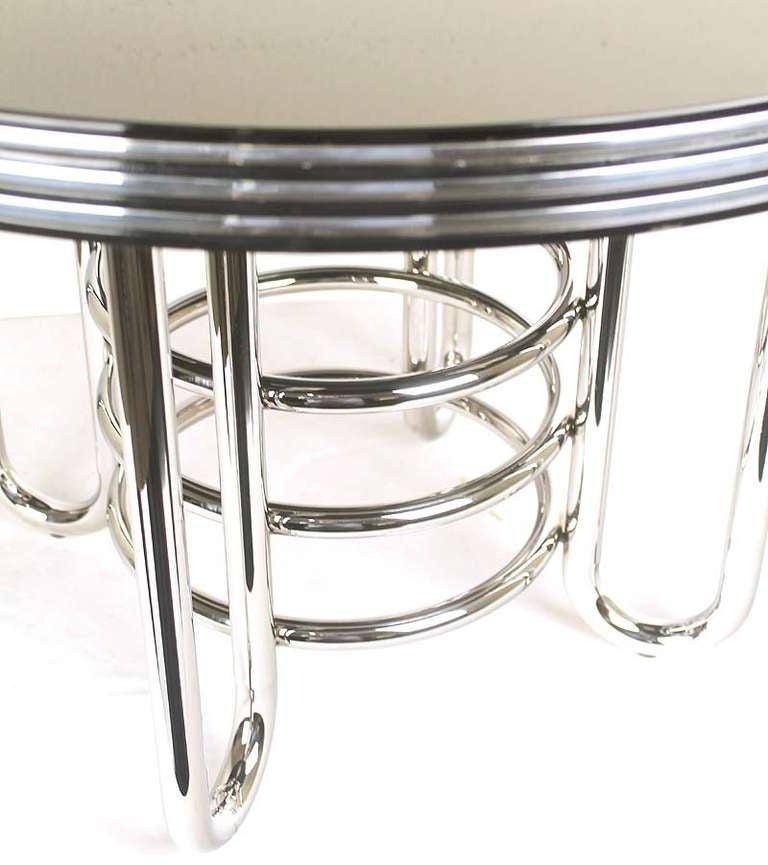 Art Deco Machine Age Coffee Table Chrome Glass At 1stdibs