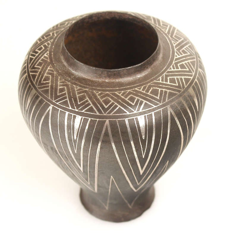 French Art Deco Modernist  Vase in the Jean Dunand / Christofle Manner 2