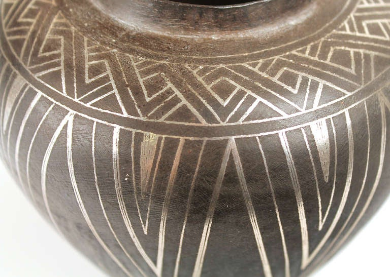 French Art Deco Modernist  Vase in the Jean Dunand / Christofle Manner 3