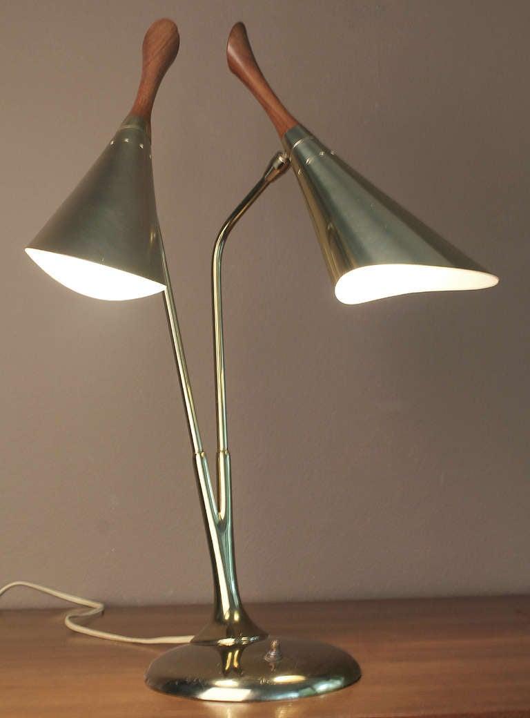 Mid century laurel biomorphic design desk lamp image 10