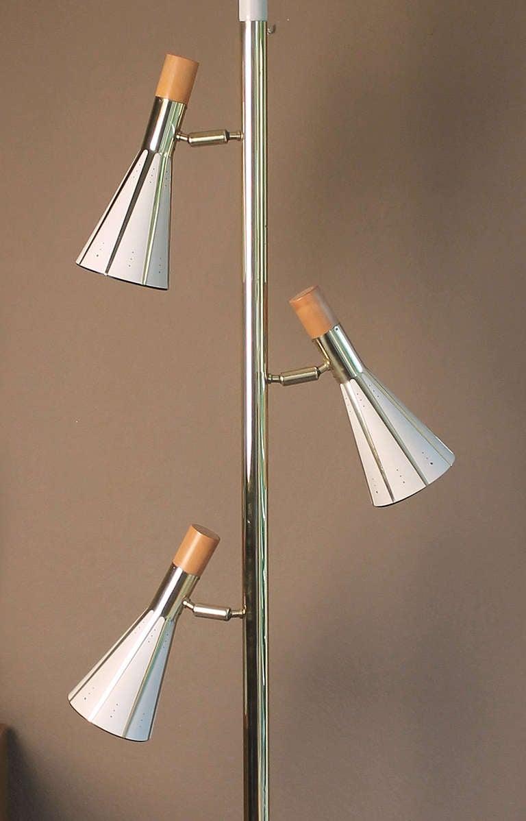 pole lamp brass ceiling fixture mid century modernist 60s for sale at. Black Bedroom Furniture Sets. Home Design Ideas