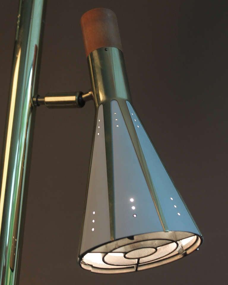 Mid Century Floor To Ceiling Pole Lamp Antique Ceiling