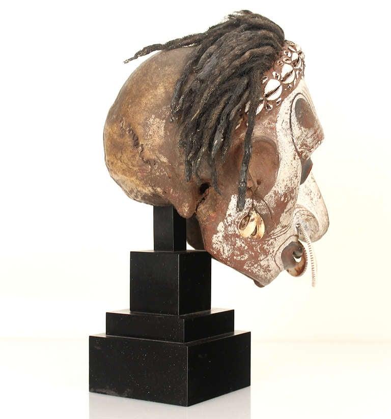 Sepik Iatmul New Guinea Overmodelled (Trophy) Skull Sculpture