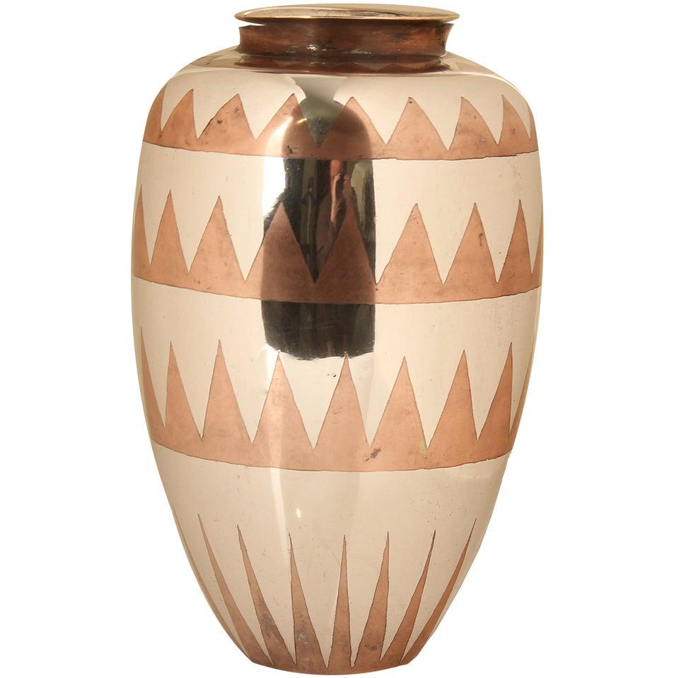 art deco modernist christofle luc lanel vase. Black Bedroom Furniture Sets. Home Design Ideas