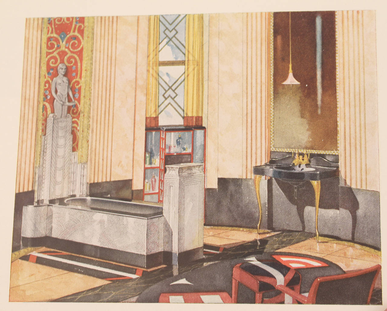 1931 art deco bathroom interior design architecture for Interior design reference images